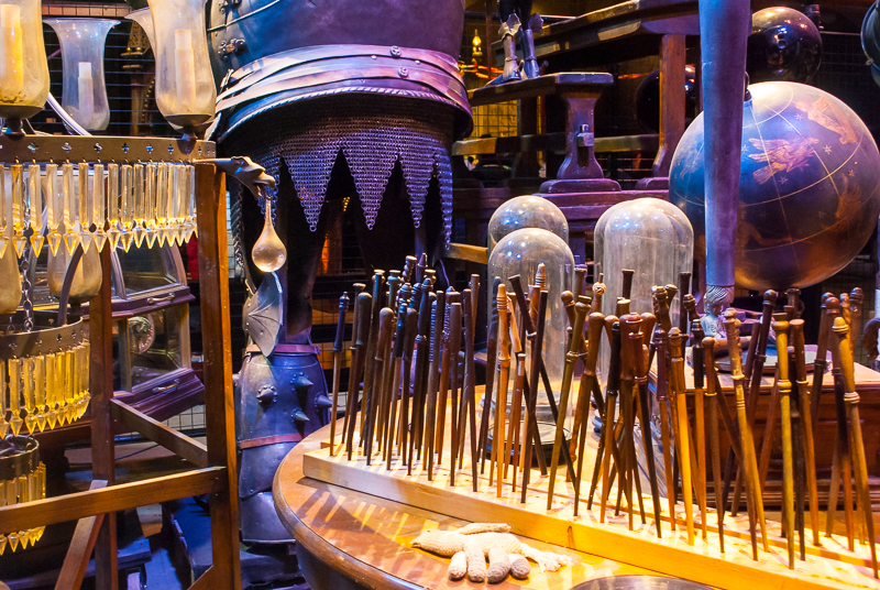wands and other props in Harry Potter Studios, Engalnd