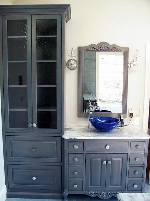 Ideas for new vanity and linen cabinet
