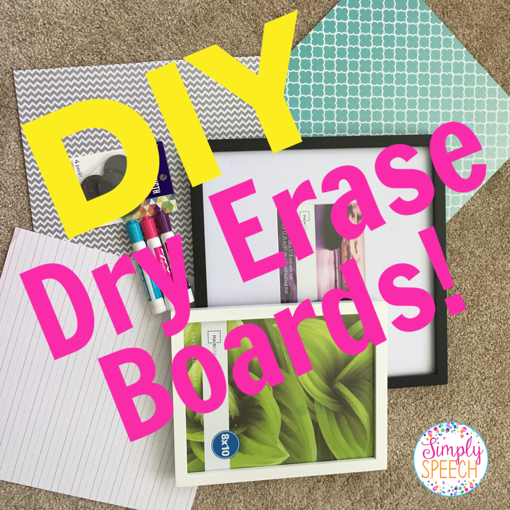Pin of the week diy dry erase boards simply speech a picture frame any size will work pick one that will fit your needs the best scrapbook paper you can find some pretty colors or patterns that will solutioingenieria Choice Image