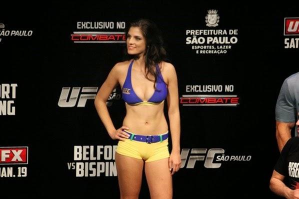 Aline Franzoi, ring girl do UFC no Brasil