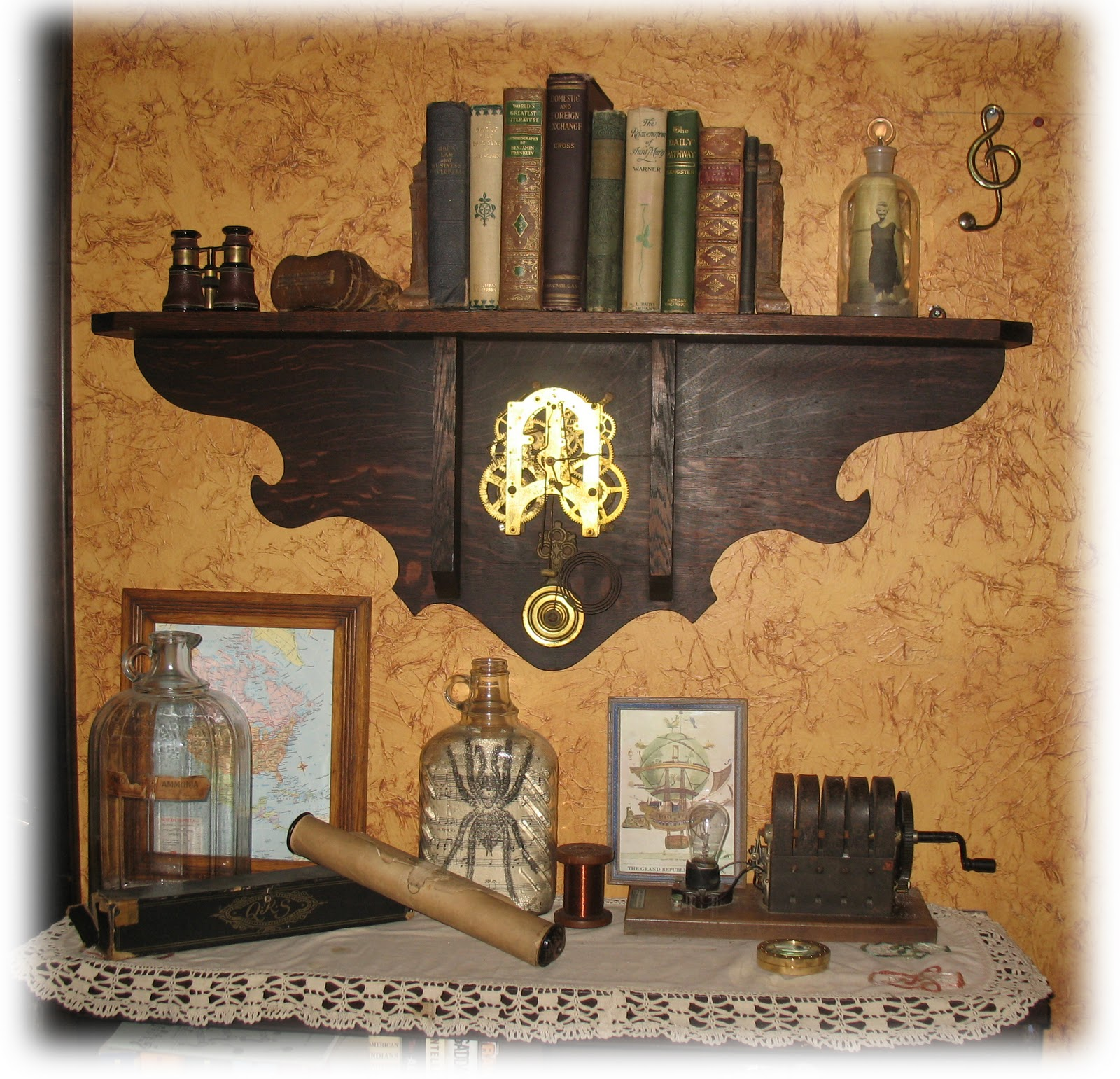 Steampunk bedroom steampunk library corner