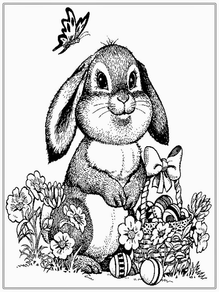Printable coloring pages bunnies - Free Rabbit Coloring Pages For Adult Realistic Coloring Pages Bunny Coloring Pages To Print Rabit Coloring