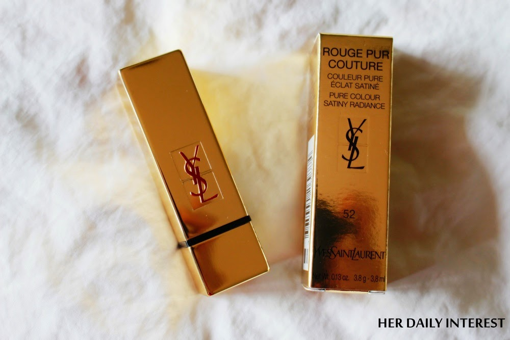 Her Daily Interest YSL Rouge Pur Couture 52 Rouge Rose