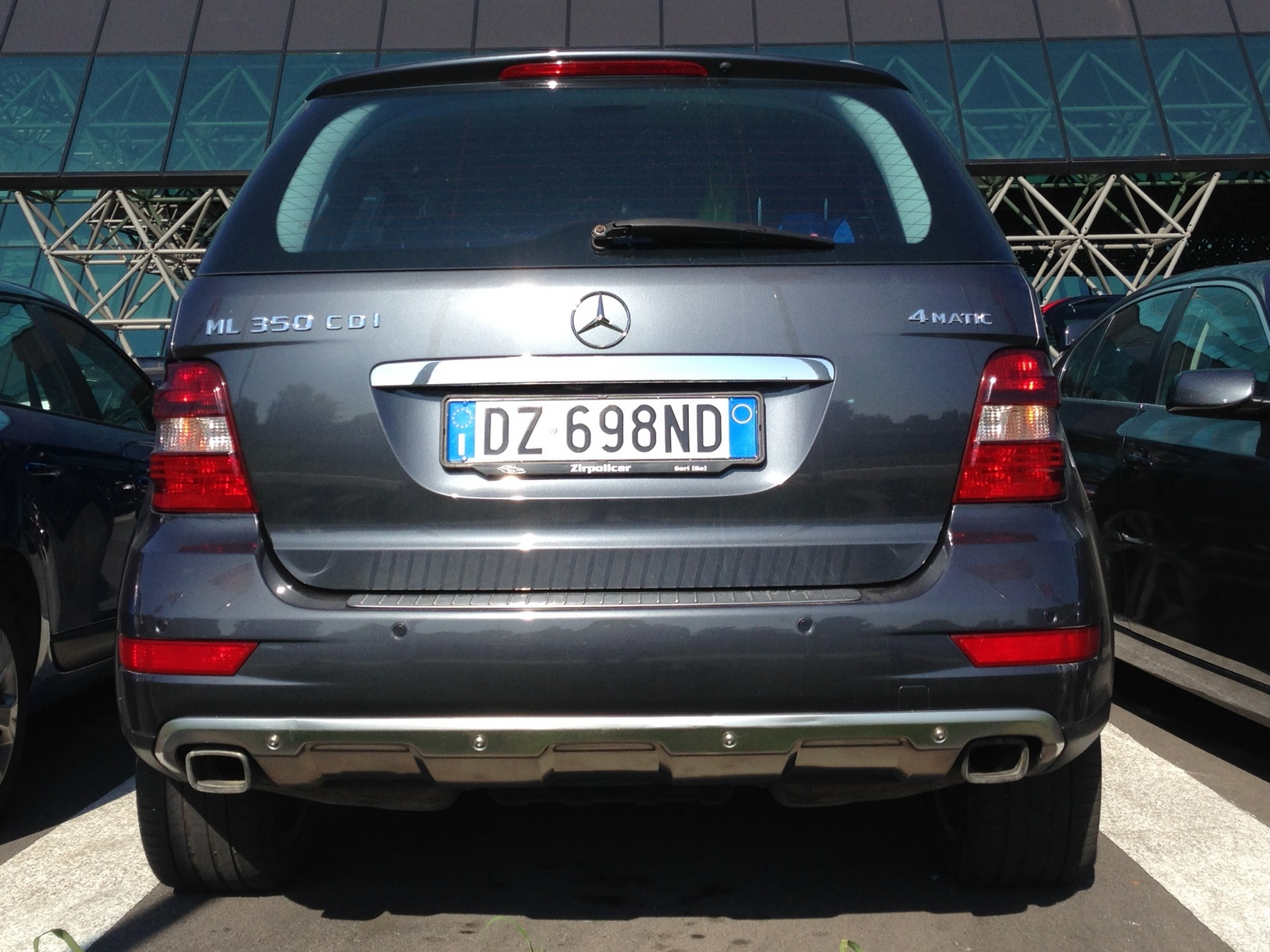 Vehicle registration plates of BMW X6 & Mercedes ML