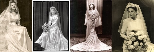 1940s brides vintage veils, headpieces and bridal bouquets