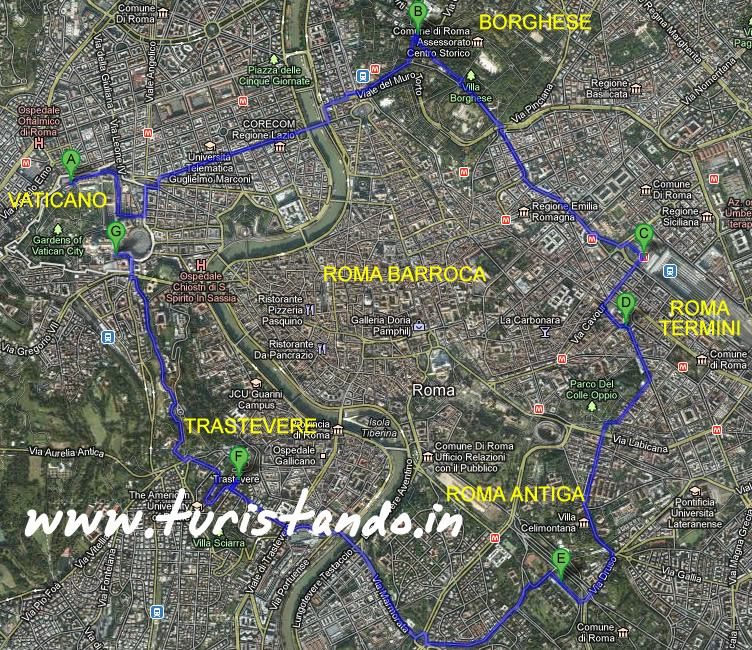 Minha mapa turìstica de Roma