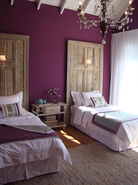 pintura de parede, como usar a cor violeta no quarto, decoração de quarto