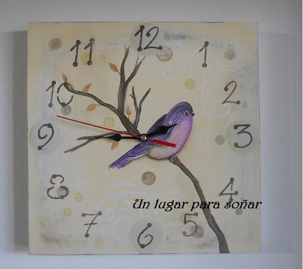 Un lugar para so ar artesanias souvenirs reloj de - Relojes de diseno de pared ...