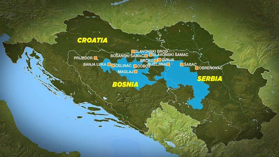 YWAM CE Blog Bosnia Serbian And Croatian Floods Two Stories - Flooded earth map