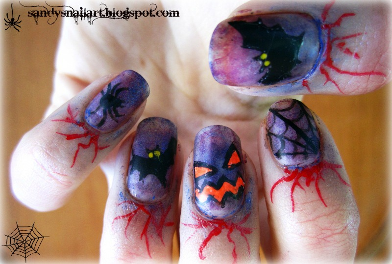 Orange Spider Nails Did For Halloween The Migi Nail Art