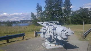 Deck gun from USS olorado at MOHAI