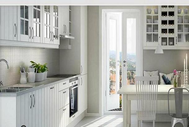 Cocinas de aspecto moderno con madera blanca : cocina y muebles