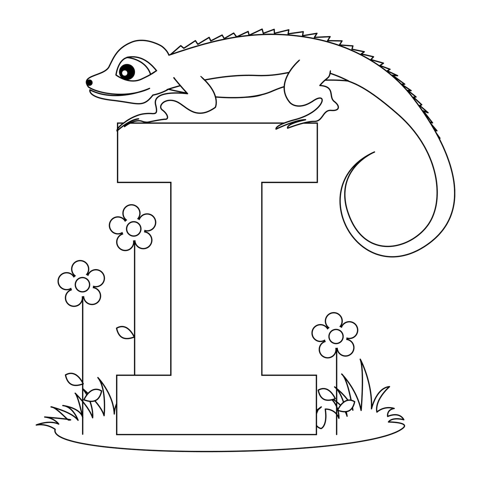 Animal Alphabet Letter I Coloring Child Coloring Coloring Page Letters