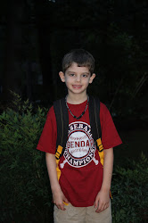 Jacob-1st day of school 2nd grade, August 2012