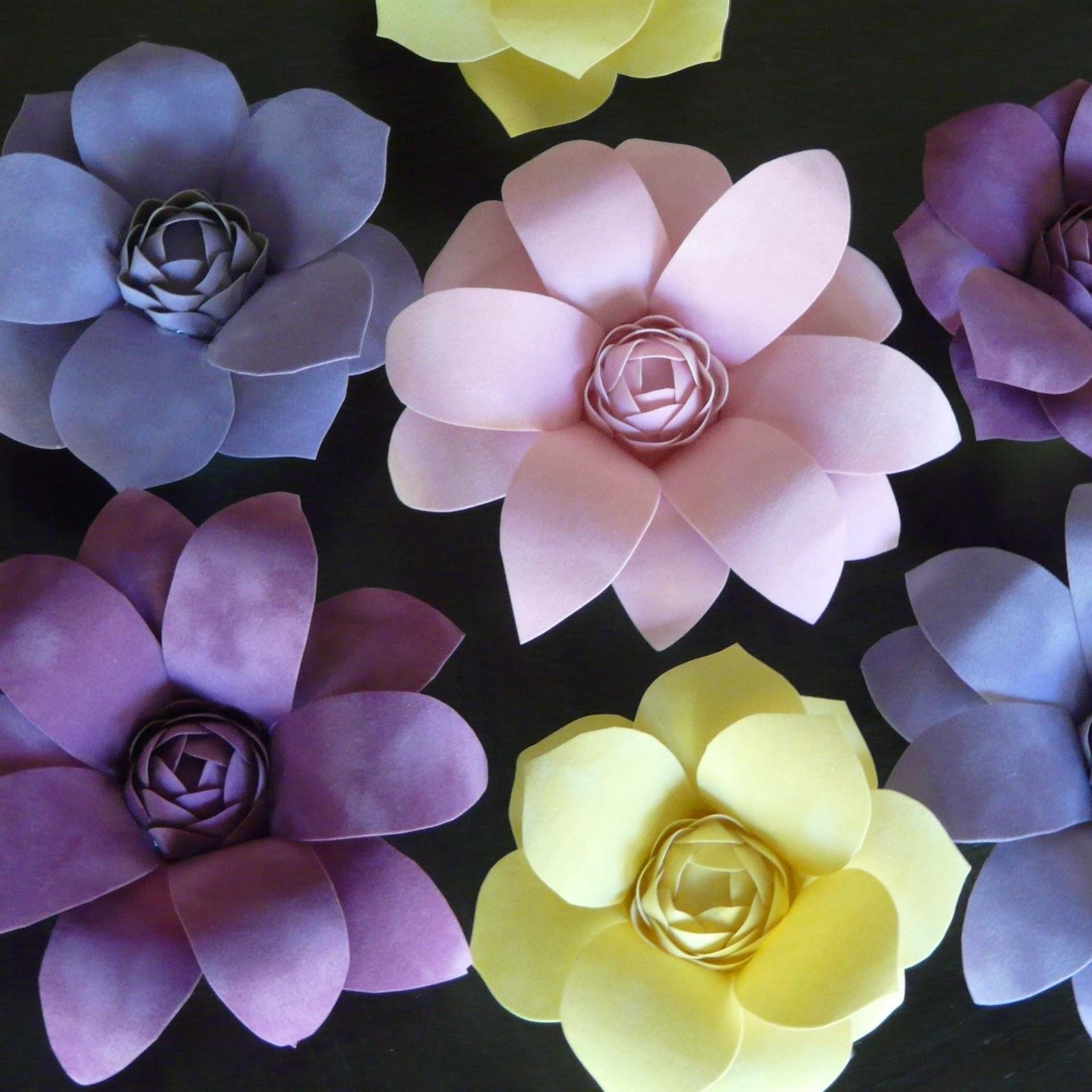 Make velvet paper spring flowers mightylinksfo