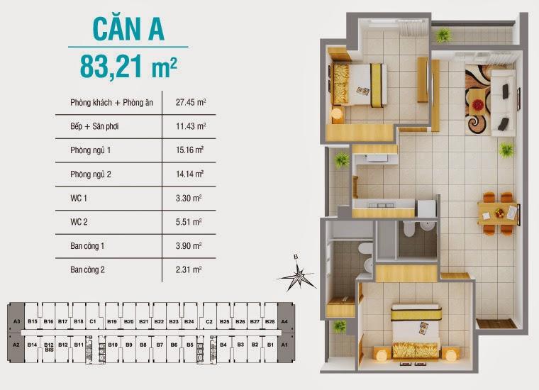 Bán căn hộ 8X Plus mặt đường Trường Trinh giá chỉ từ 12,3 triệu / m2 15