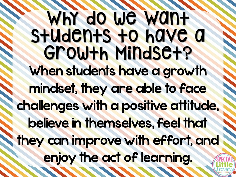 Special Little Learners: Growth Mindset Series: Part 1 {What is it ...