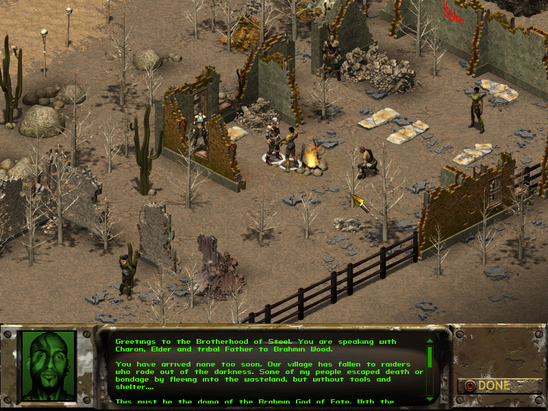 What you need: DOSBox 0.74 Or equivalent. . Windows version of Fallout 1.0