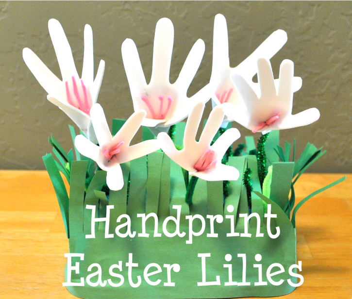 The Iowa Farmers Wife Handprint Easter Lily