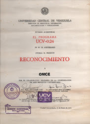 Reconocimiento UCV