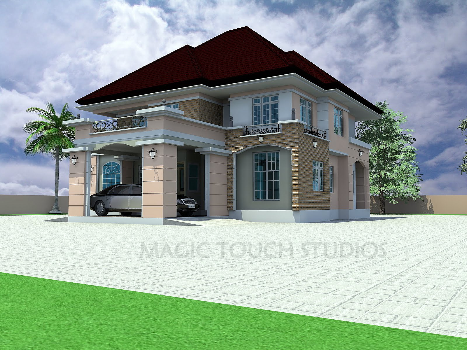 5 bedroom duplex residential homes and public designs for New duplex designs