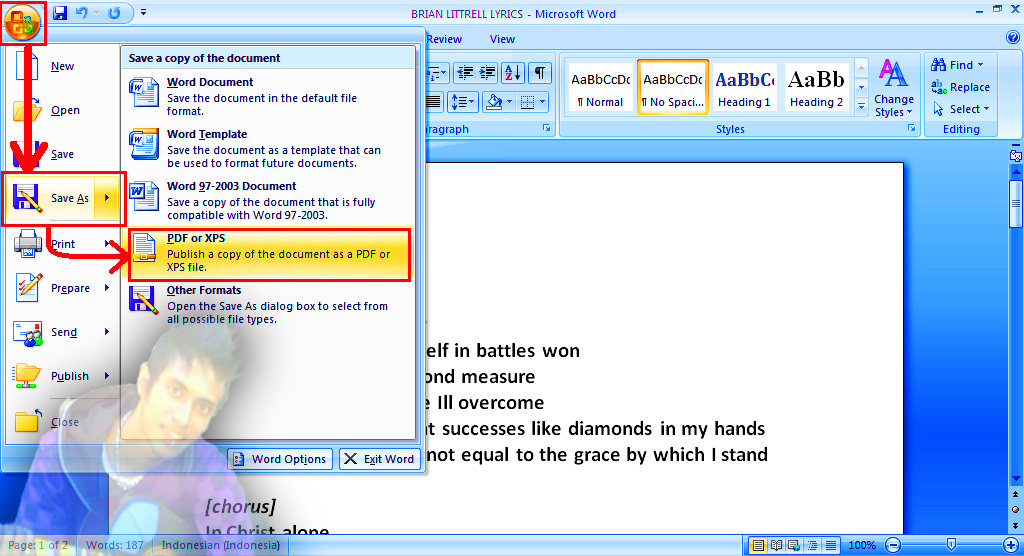 convert my word document to pdf