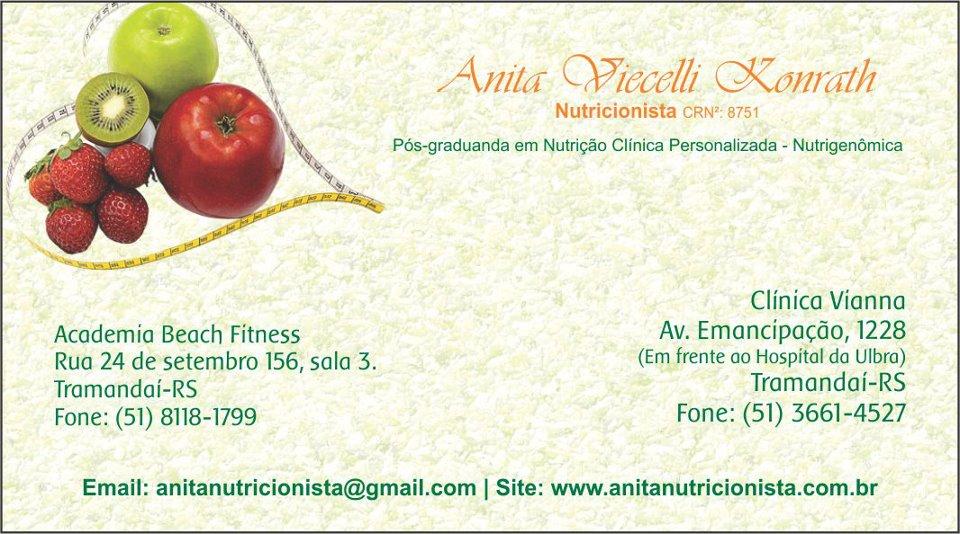 Conhecido Anita Viecelli Konrath - Nutricionista - CRN2: 8751 UY99