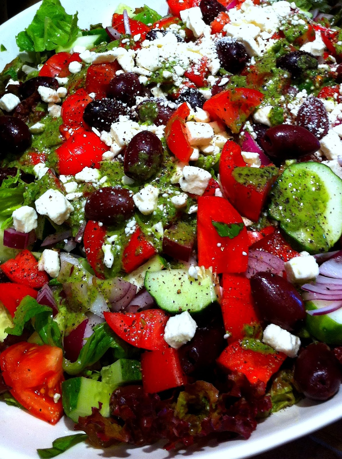 Cooking The Amazing: GREEK SALAD with GREEK DRESSING