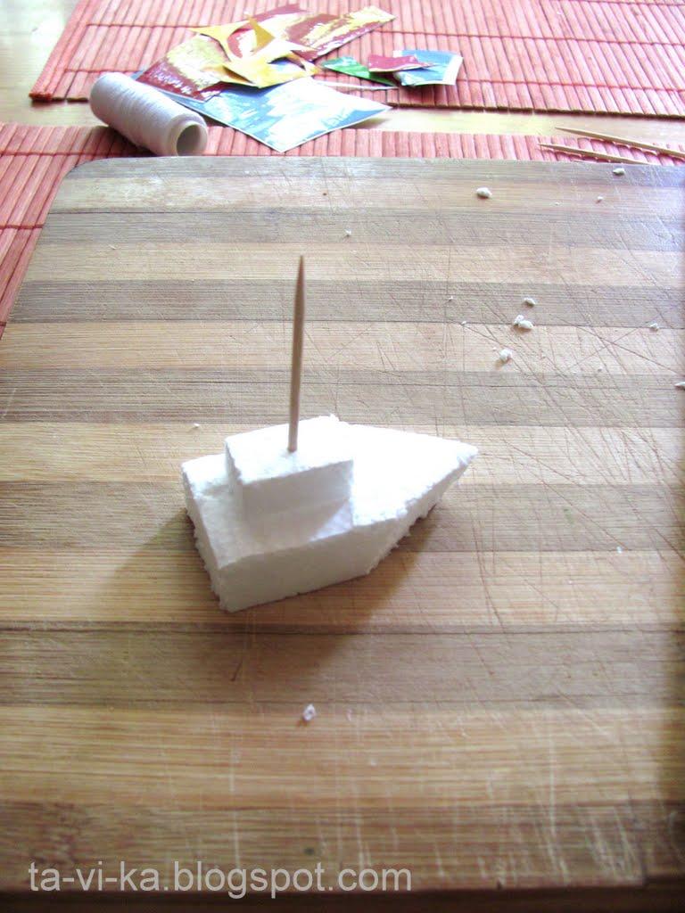 Кораблик из пенопласта с моторчиком своими руками 29