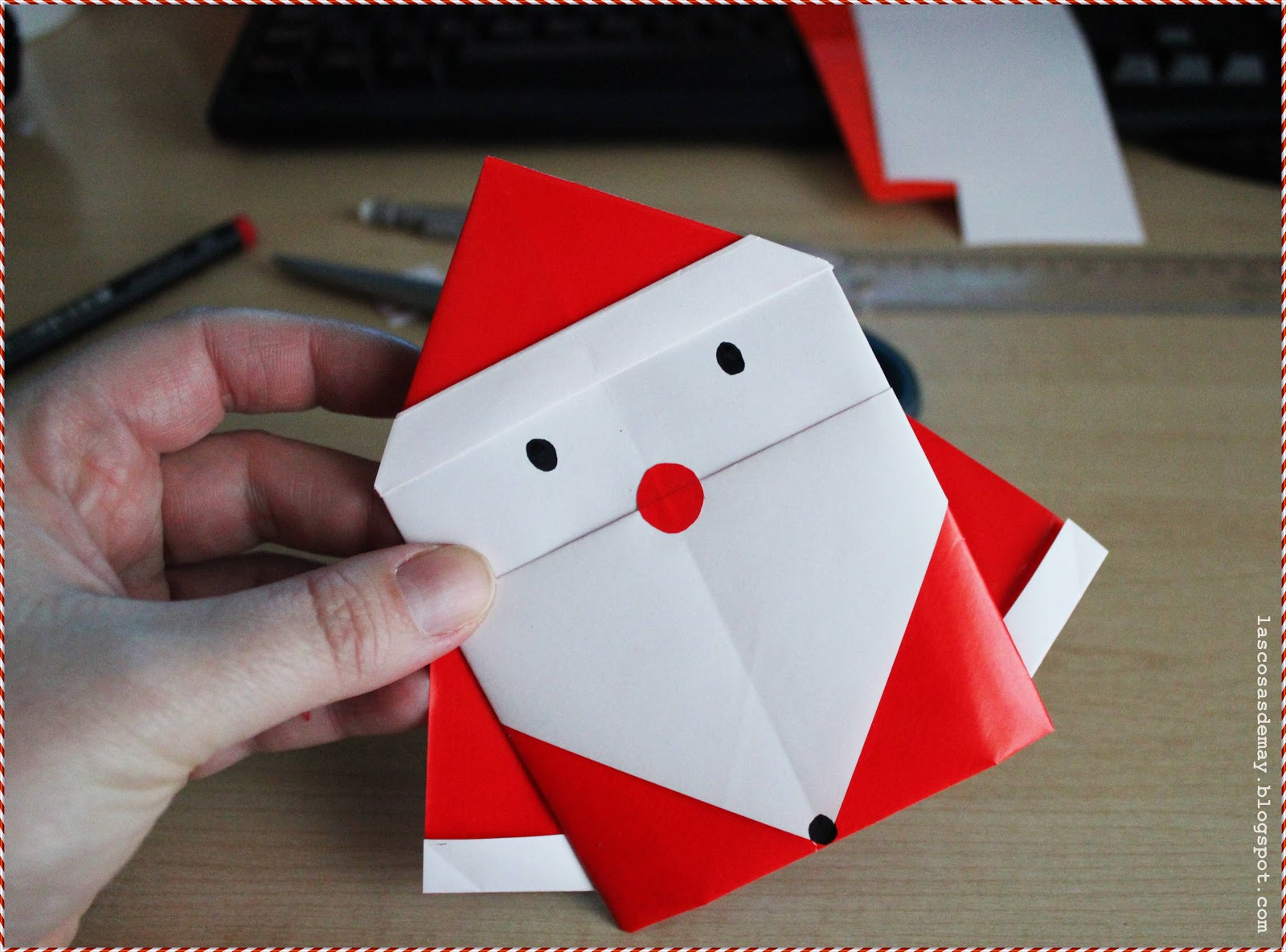 Origami santa claus 28 images create extremely for Make origami santa claus