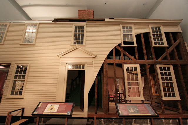 The Choates' House with 10 rooms including the attic was considered as the wealtheir than the most colonists in the 1760s at Museum of American History in Washington DC, USA