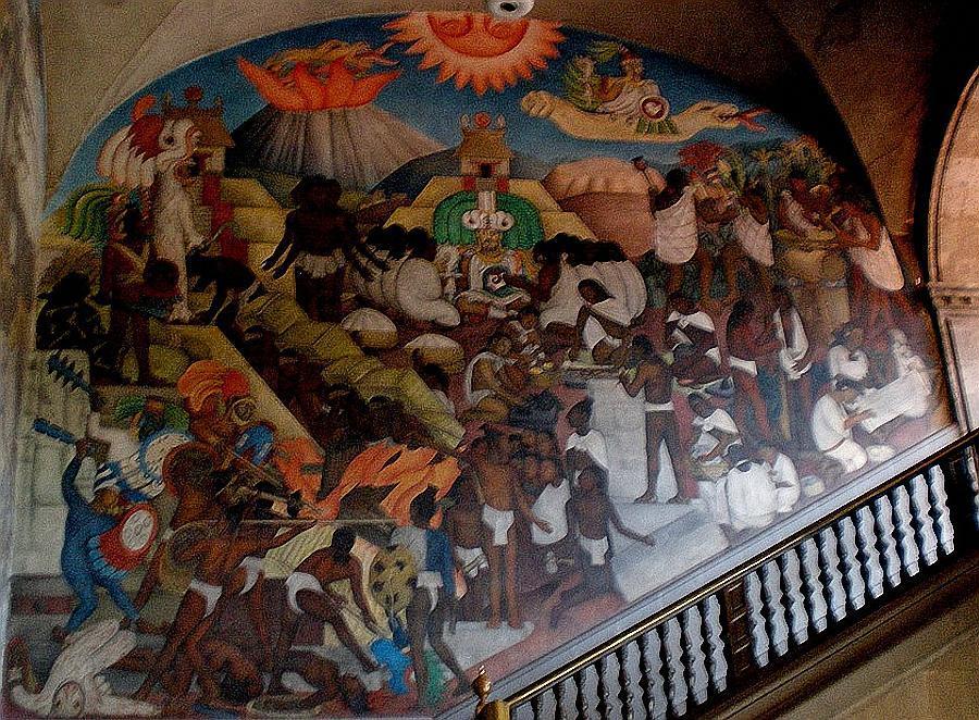 Los murales en mexico como expresion popular los for Mural quetzalcoatl