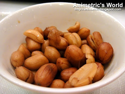 Appetizer of boiled peanuts at Jasmine, New World Hotel