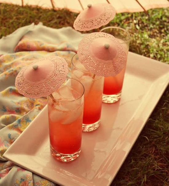 Sombrillas para bebidas y tragos con blondas (muy facil)