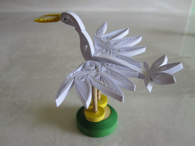 3d paper quilling birds patterns
