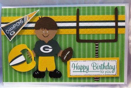 Essence Of Paper Football Theme Birthday Card