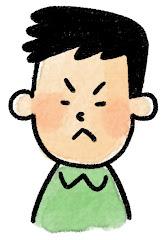 男性の表情のイラスト(怒り)