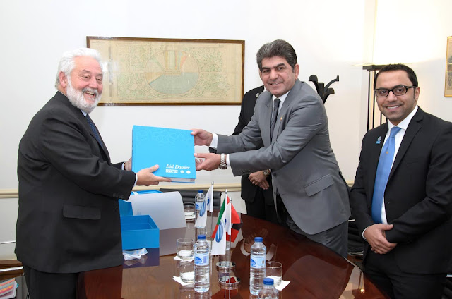 His Excellency Mohamed Meer Abdalla Al Raeesi, the UAE's Ambassador to France, has submitted the country's official Bid Dossier in support of its bid to host World Expo 2020