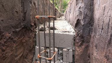 Fondation du mur de l'enclos