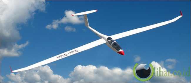 Glider (Pesawat dengan sayap yang panjang)