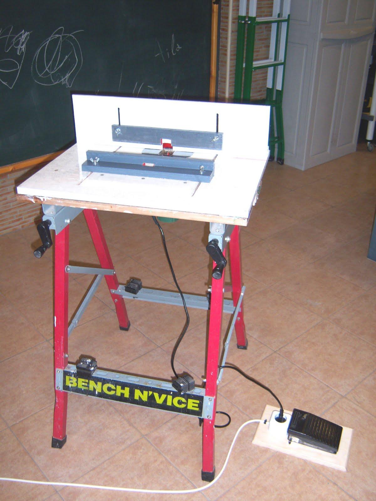 Bricolaje y aeromodelismo de pepe bosc bricolaje mesa for Mesa para fresadora