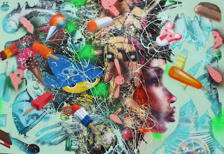 david choe colorful street image - abstract painting