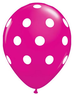 Berry with White Polka Dots Latex Balloons