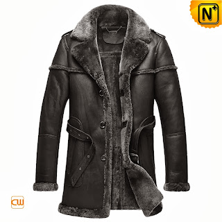 Black Shearling Sheepskin Coat
