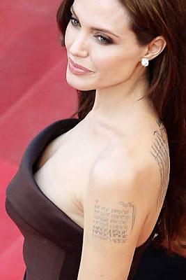 Significados e imagens das Tatuagens de Angelina Jolie
