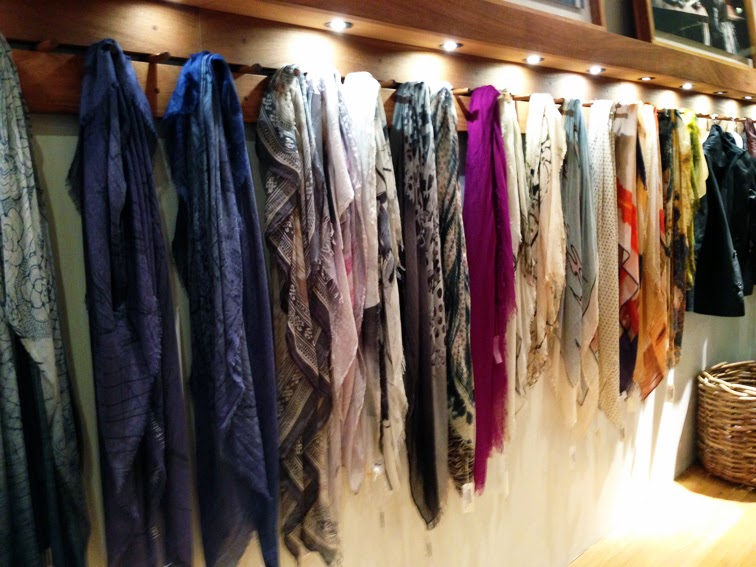 M0851 nyc soho store launch silk scarf wall