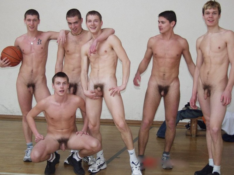 Nude Men Hanging Out