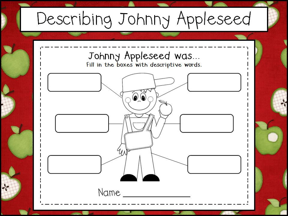 Johnny Appleseed Freebies and a Sale
