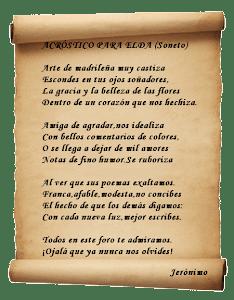 Gracias Jero por tan hermoso soneto
