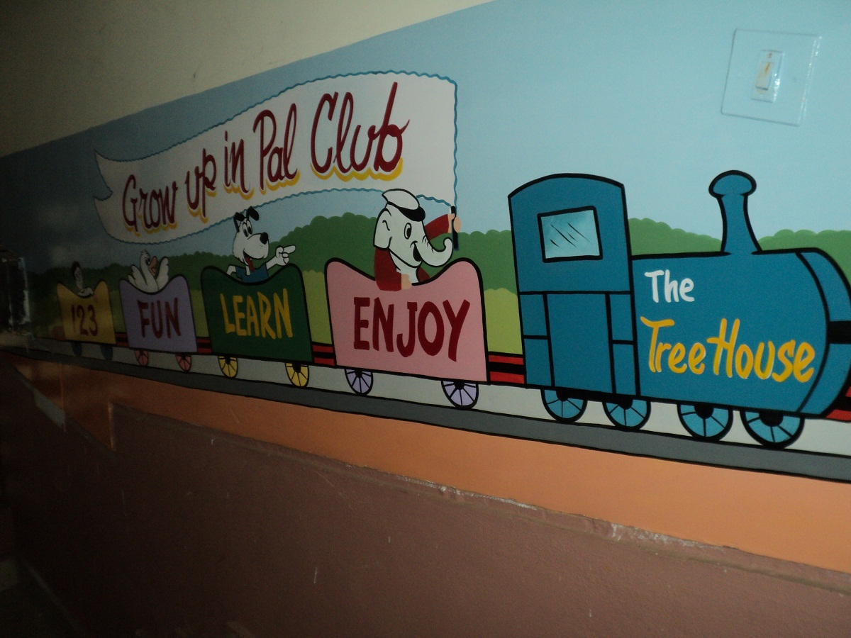 Day care classroom wall murals bandara for Classroom wall mural